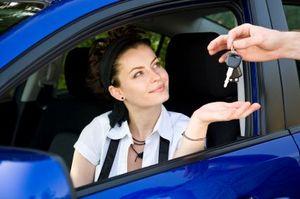 Handing keys to driver