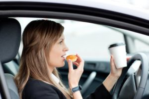 eating and drinking while driving