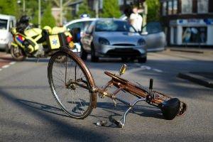 cyclist hit by car